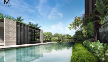 Meyer House Lap Pool & Beach House Artist Impression