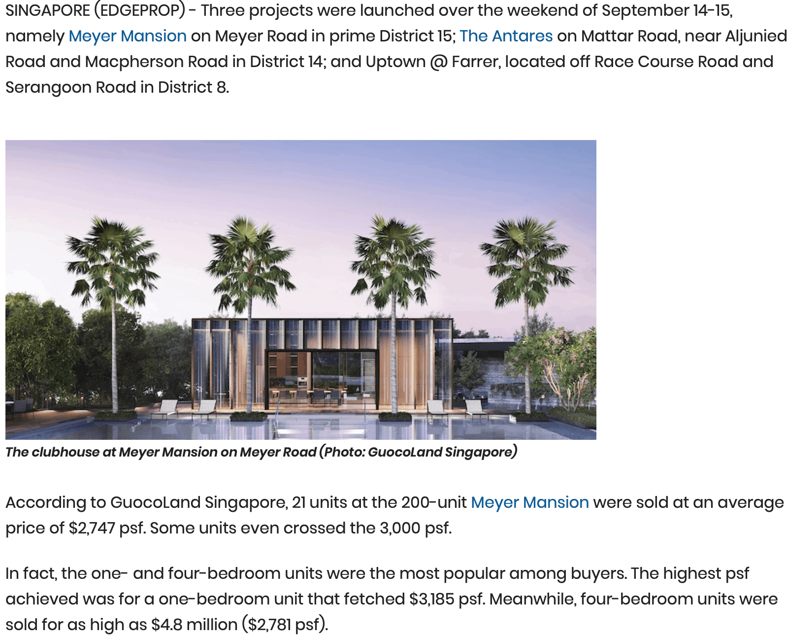 New - Meyer Mansion Tops Launch Sales